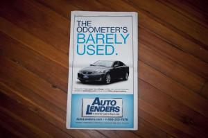 Auto Lenders Newspaper Ad #1