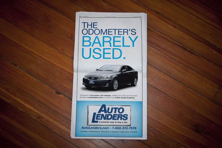 Auto Lenders Newspaper Ad #1