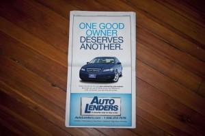 Auto Lenders Newspaper Ad #2