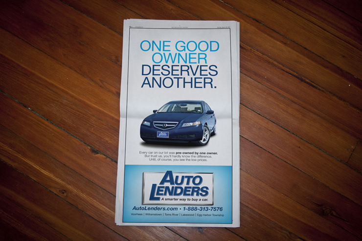Auto Lenders Newspaper Ad #2