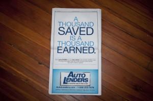 Auto Lenders Newspaper Ad #3