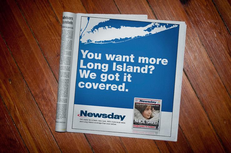 Newsday Print Advertisement #2