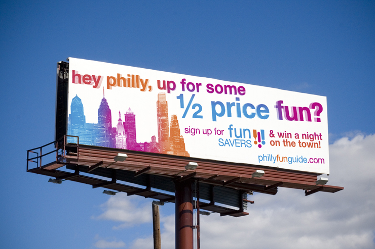 Philly Fun Guide Outdoor Advertisement