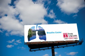Temple Lung Center Outdoor Advertisement