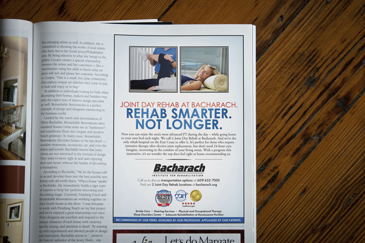 Bacharach Day Rehab Magazine Advertisement