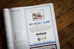 Bacharach We Won't Sleep Magazine Advertisement