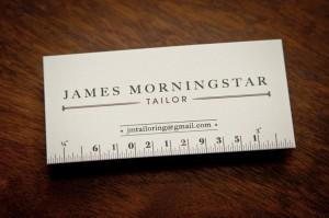 Business Card for James Morningstar, Tailor