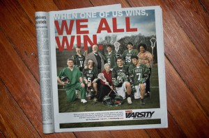 MSG Varsity Newspaper Advertisement #2