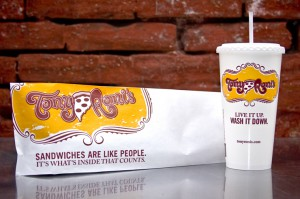 Tony Roni's Bag and Cup Design