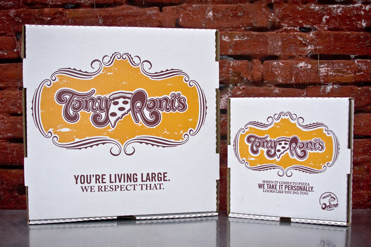 Tony Roni's Pizza Boxes