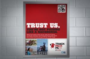 TrackPackPA.com Bathroom Print Advertisement