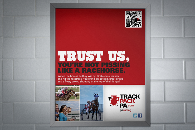TrackPackPA.com Bathroom Print Advertisement