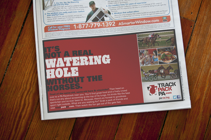 TrackPackPA.com Print Advertisement #1