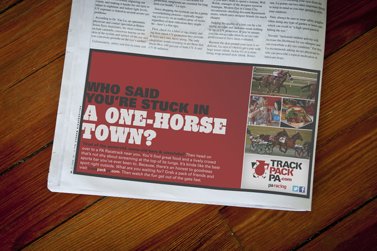 TrackPackPA.com Print Advertisement #2